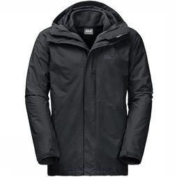 Jack Wolfskin Coat Iceland 3In1 black