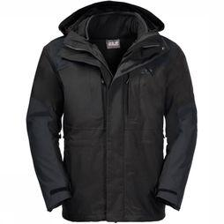 Jack Wolfskin Coat Thorvald 3In1 black