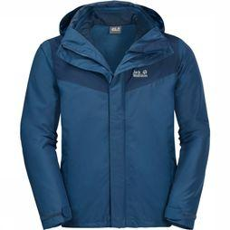 Jack Wolfskin Coat Arland 3In1 blue/dark blue
