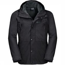 Jack Wolfskin Jas West Harbour Eco 3In1 Zwart