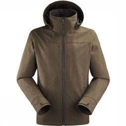 Lafuma Coat Caldo Heather 3In1 dark brown