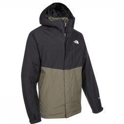 The North Face Manteau Mountain Light Triclimate Noir/Kaki Foncé