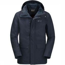 Jack Wolfskin Coat West Coast dark blue