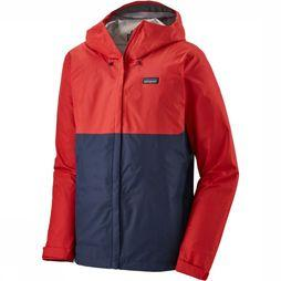 Patagonia Coat Torrentshel 3L dark blue/red