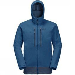 Jack Wolfskin Coat Mount Elgon blue/dark blue