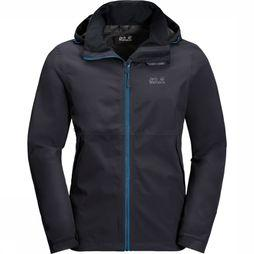 Jack Wolfskin Coat Evandale dark grey