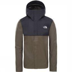 The North Face Jas Quest Zip-In Donkerkaki/Zwart