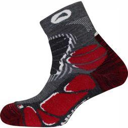 Monnet Sock Pro Wool Mid Light mid grey/red