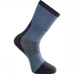 Woolpower Chaussette Skilled Classic Liner (thin technical hiking sock) marine/Bleu Clair
