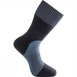 Woolpower Kous Skilled Classic 400 (warm technical hiking sock) Marineblauw/Lichtblauw