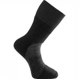 Woolpower Chaussette Skilled Classic 400 (warm technical hiking sock) Noir/Gris Foncé