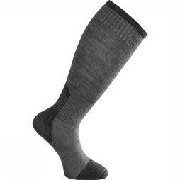 Woolpower Kous Skilled Knee High Liner (thin technical hiking sock) Donkergrijs/Middengrijs