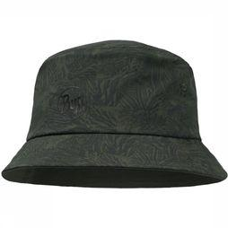 Buff Pet Trek Bucket Hat Checkboard Donkerkaki/Middenkaki