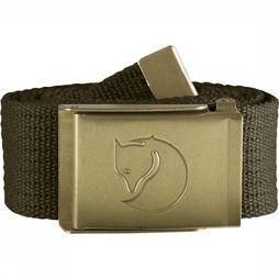 Fjällräven Belt Canvas Brass dark khaki