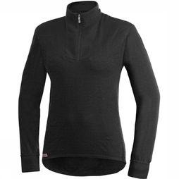 Woolpower Ondergoed Zip Turtleneck 200 (unisex baselayer) Zwart