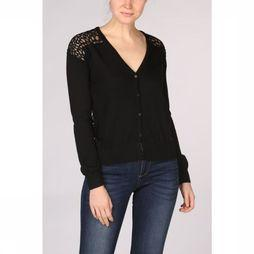 Kaporal Cardigan Lace Front And Back Zwart