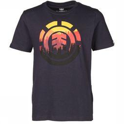 Element T-Shirt Glimpse Icon Donkerblauw