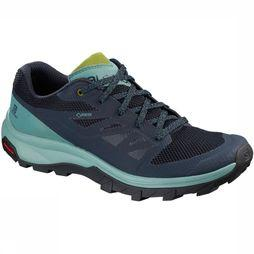 Salomon Schoen Outline Gore-Tex Women Marineblauw/Lichtblauw