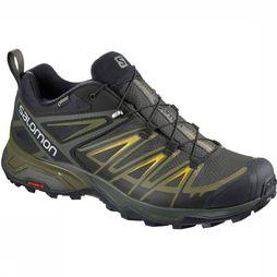 Salomon Schoen X Ultra 3 Gore-Tex Men Zwart/Middengroen