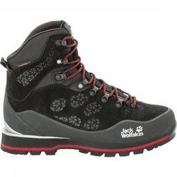 Jack Wolfskin Shoe Wilderness Peak Texapore Mid black/red