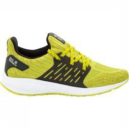 Jack Wolfskin Shoe Coogee Knit Low Lime/black