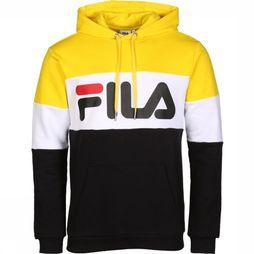 Fila Pullover Night Blocked Hoodie mid yellow/black