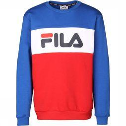 Fila Pull Night Blocked Crew Gris Clair Mélange/Bleu