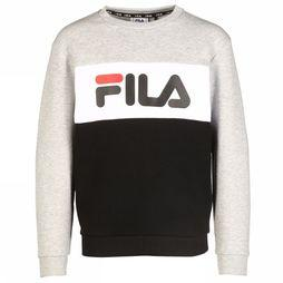 Fila Pull Night Blocked Crew Gris Clair Mélange/Noir