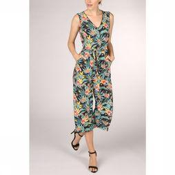 Tom Tailor Jumpsuit 1011411 black/Assortment Flower
