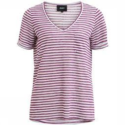 Object T-Shirt Tessi Slub Ss V Neck white/mid purple