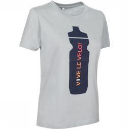 Vive le Velo T-Shirt Drink Bottle Women light grey