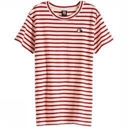 Maison Scotch T-Shirt 150699 Rouge Moyen/Blanc