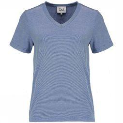 CKS Women T-Shirt Nebony white/dark blue