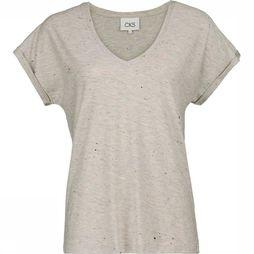CKS Women T-Shirt Femke Light Grey Mixture