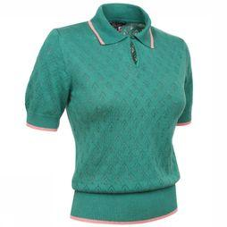King Louie Collar Knit Top Groen