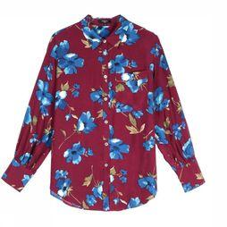 FRNCH Shirt Carolin Bordeaux/Assortment Flower