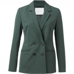 Yaya Blazer Sporty Double Breasted Vert Moyen