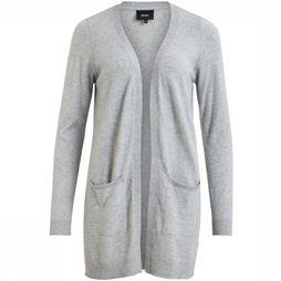 Object Cardigan Thess Ls Noos Light Grey Mixture
