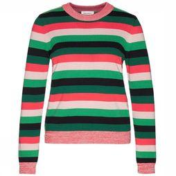 ARMEDANGELS Pullover Oxana Multi Stripes Fuchsia/mid green