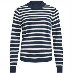 Object Pullover Thess Ls Knit Knit Noos dark blue/off white