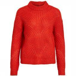 Object Trui Aya Love Ls Knit Donkerrood
