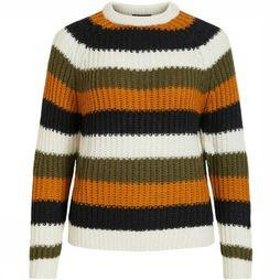 Object Pullover Marcel dark yellow/black