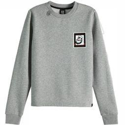 Maison Scotch Pull 150683 Gris Clair
