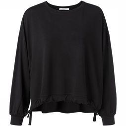 Yaya Pullover Jersey Modal With Drawstrings black