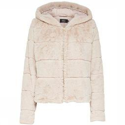 Only Coat Onlchris Fur Hooded off white