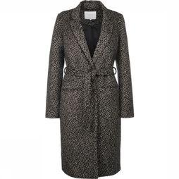 Yaya Coat Fur Leopard sand/black