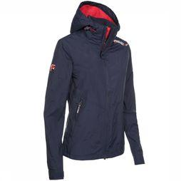 Superdry Jas Technical Hooded Cliff Hiker Marineblauw/Middenrood