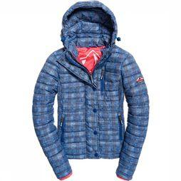 Superdry Coat Fuji Slim Double Ziphood blue