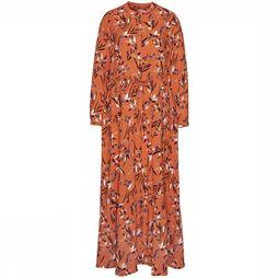 Armedangels Dress Deniaa orange/Assortment Flower