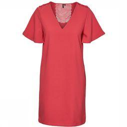 Vero Moda Dress Vmea Ss V Neck Fuchsia